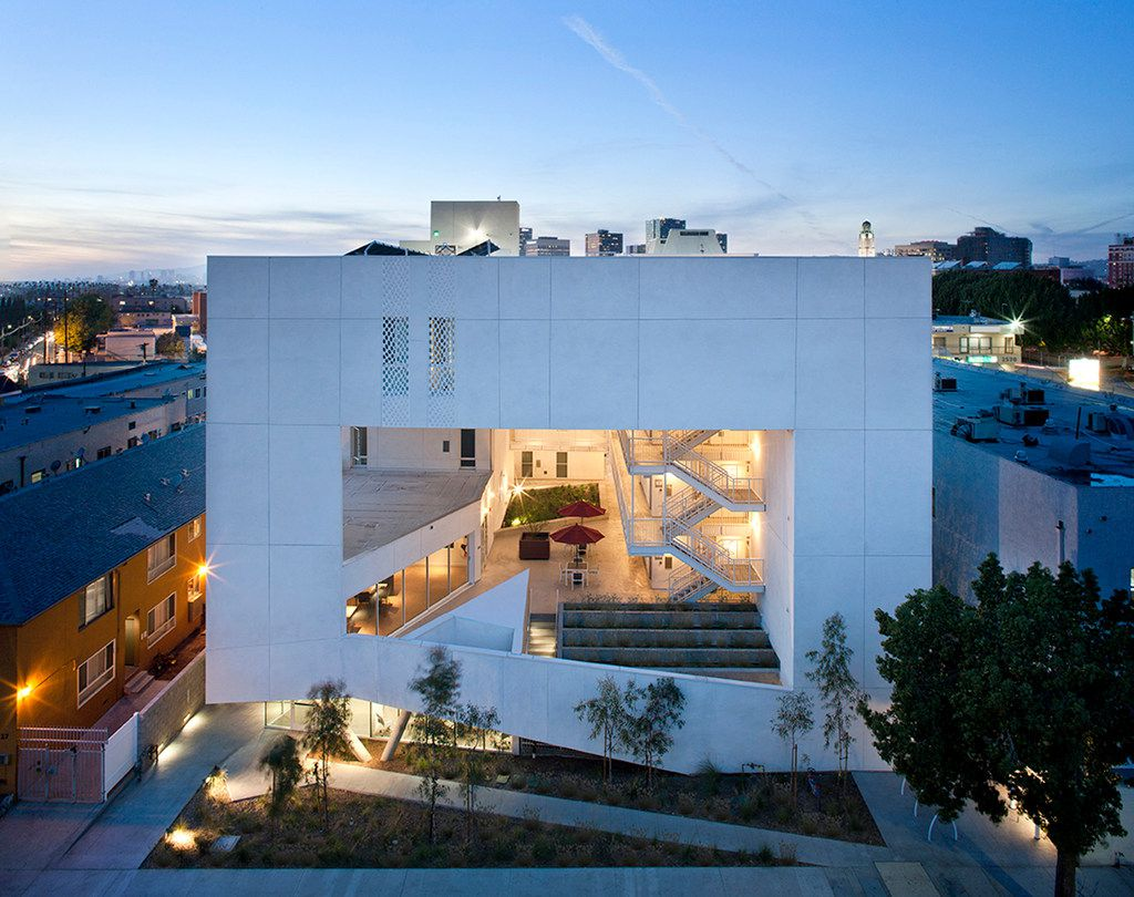 """The Six"" housing for disabled veterans in Los Angeles, CA, designed by the architecture firm Brooks + Scarpa."