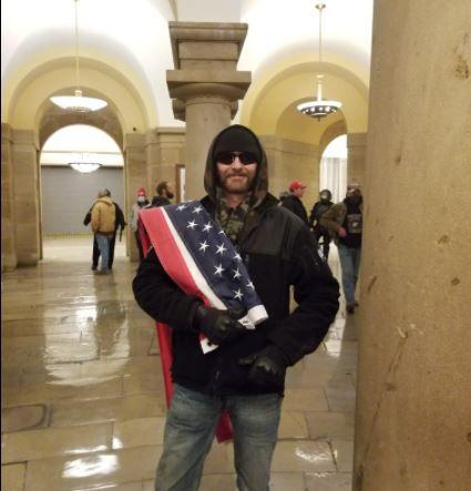 Daniel Phipps inside the Capitol building on Jan. 6.