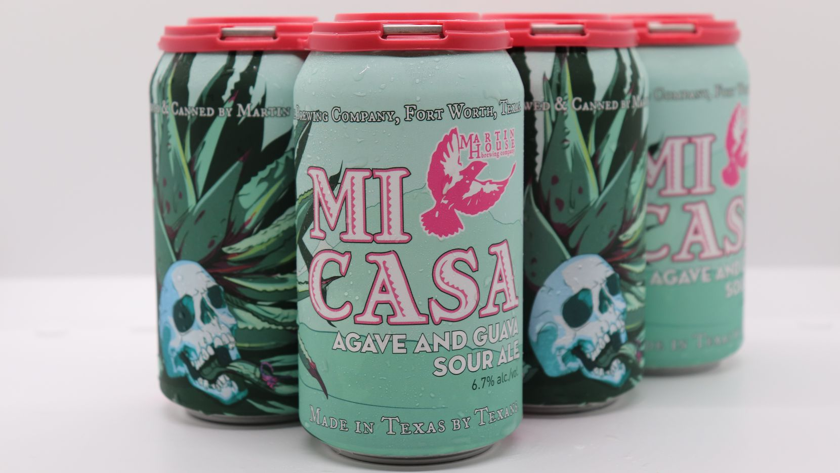 The Mi Casa agave and guava sour ale from Martin House Brewing Company in Fort Worth