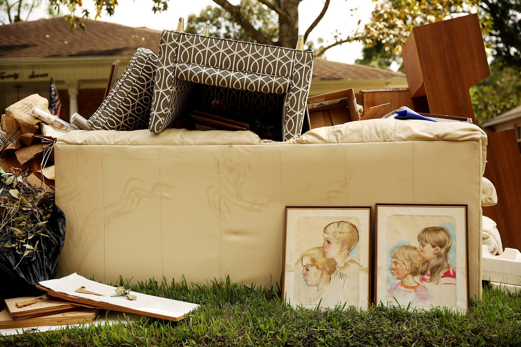One family had to trash portraits and much of their furniture.