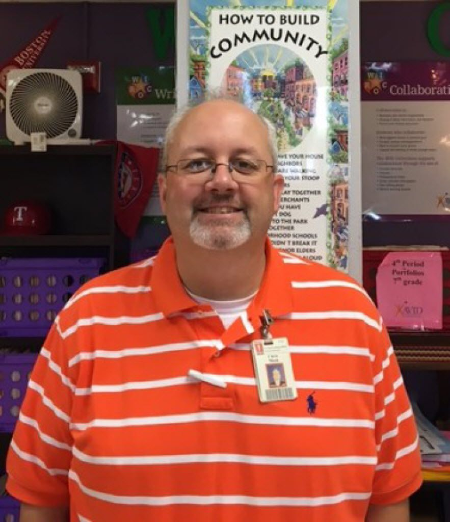 Chris Meek is a math teacher at O'Banion Middle School. Meek is the 2016 Garland ISD District Teacher of the Year.