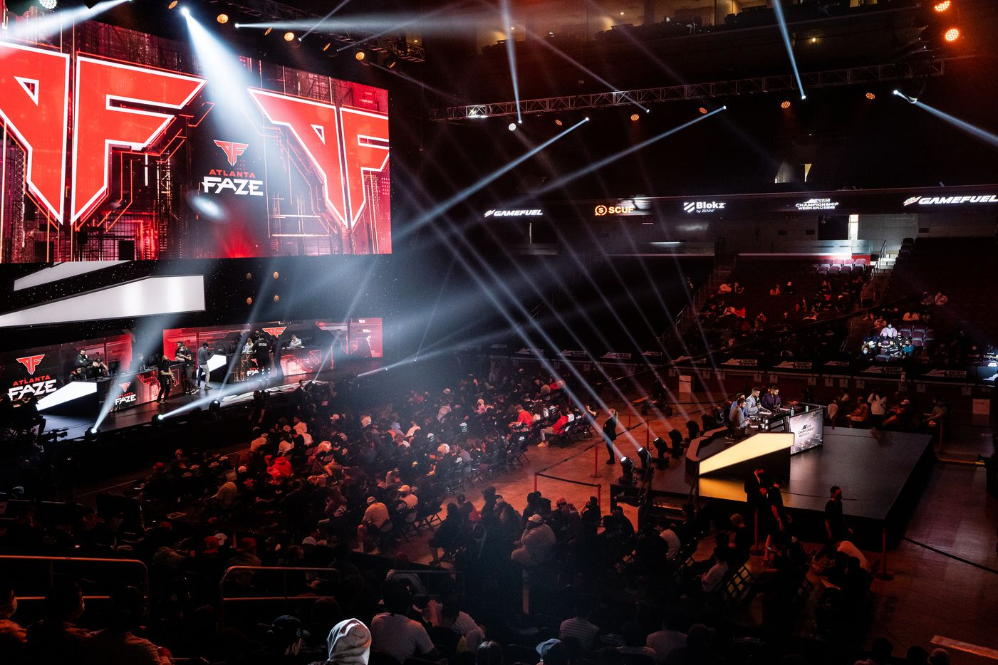 Fans wait for the start of the final day of the Call of Duty league playoffs at the Galen Center on Sunday, August 22, 2021 in Los Angeles, California. The Atlanta FaZe compete against Toronto Ultra in the championship round at 12pm PST. (Justin L. Stewart/Special Contributor)