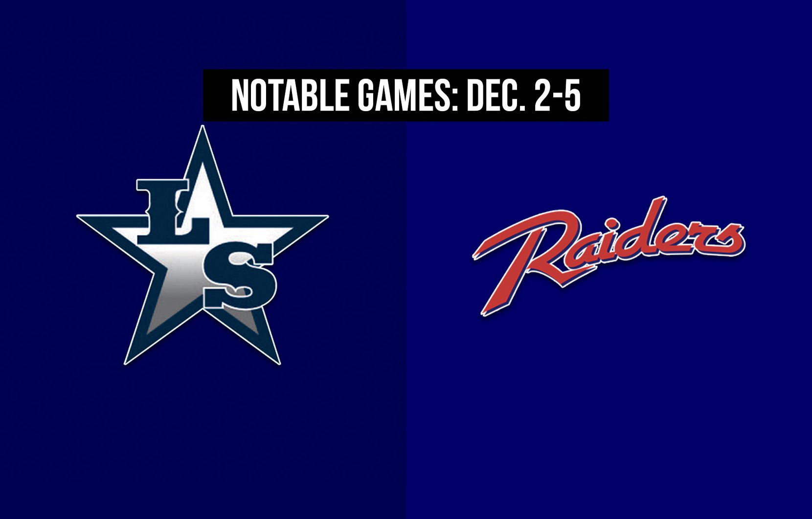 Notable games for the week of Dec. 2-5 of the 2020 season: Frisco Lone Star vs. Denton Ryan.