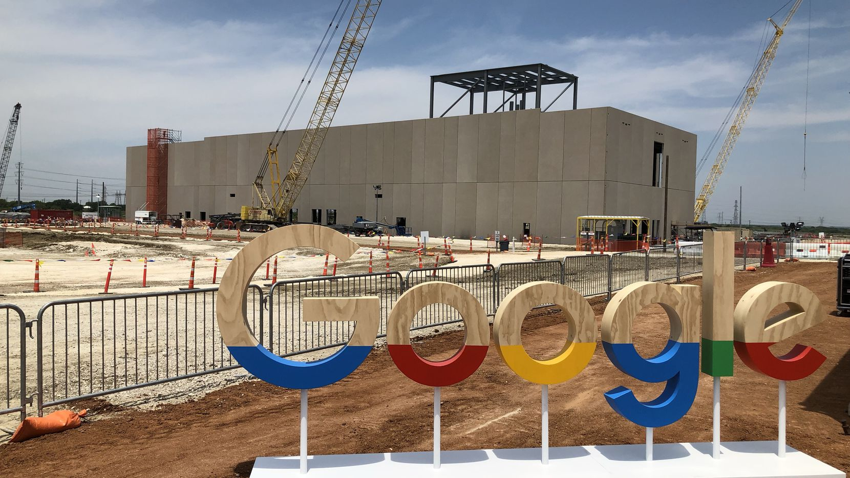 Google's $600 million data center is being built in Midlothian about 25 miles southwest of Dallas.