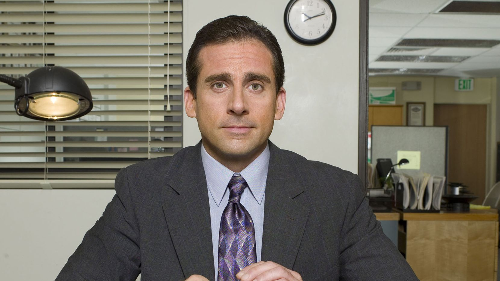 "Steve Carell as Michael Scott in NBC's popular sitcom, ""The Office."""