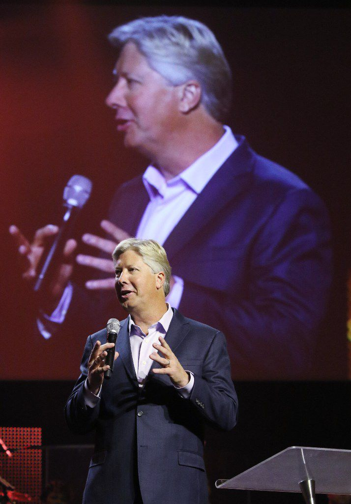 Gateway Church pastor Robert Morris talks on Wednesday, Sept. 21, 2016, during The Gathering at Gateway Church in Southlake. Christian leaders from across America came together for a day of pray and solemn assembly to call the nation to return to God.