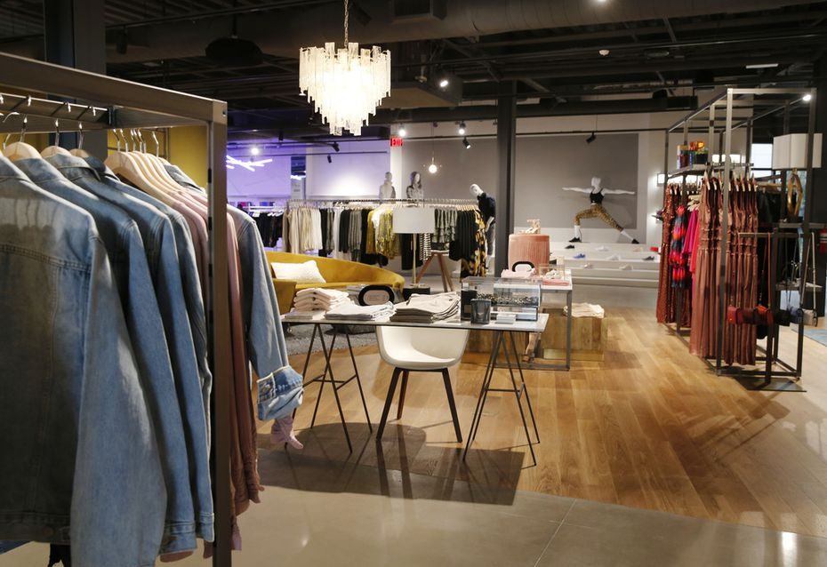 Women's clothing on display at the Market by Macy's in Southlake in early 2020.