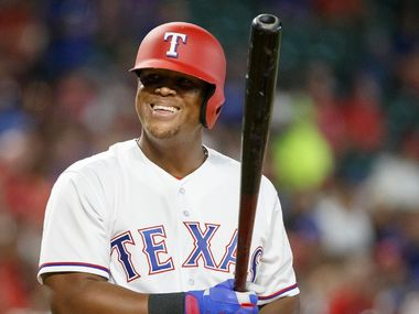 Texas Rangers third baseman Adrian Beltre smiles as he steps into the batters box during the sixth inning against the Tampa Bay Rays at Globe Life Park on Tuesday, May 30, 2017, in Arlington. (Smiley N. Pool/The Dallas Morning News)