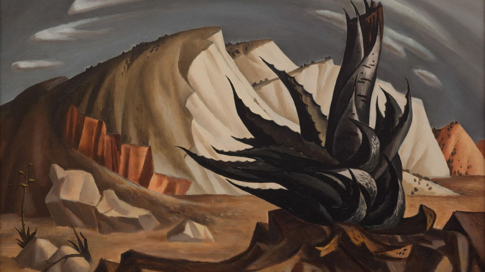 Jerry Bywaters, 'Century Plant,' 1939 . Works like this and others are just some of the artworks the proposed Museum of Texas Art (MoTA) hopes to show, should Fair Park First approve its plan for renovating the historic building built in 1936 for the Dallas Museum of Fine Art.