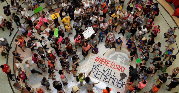 Protestas en Austin contra el fin de DACA. Foto: DMN