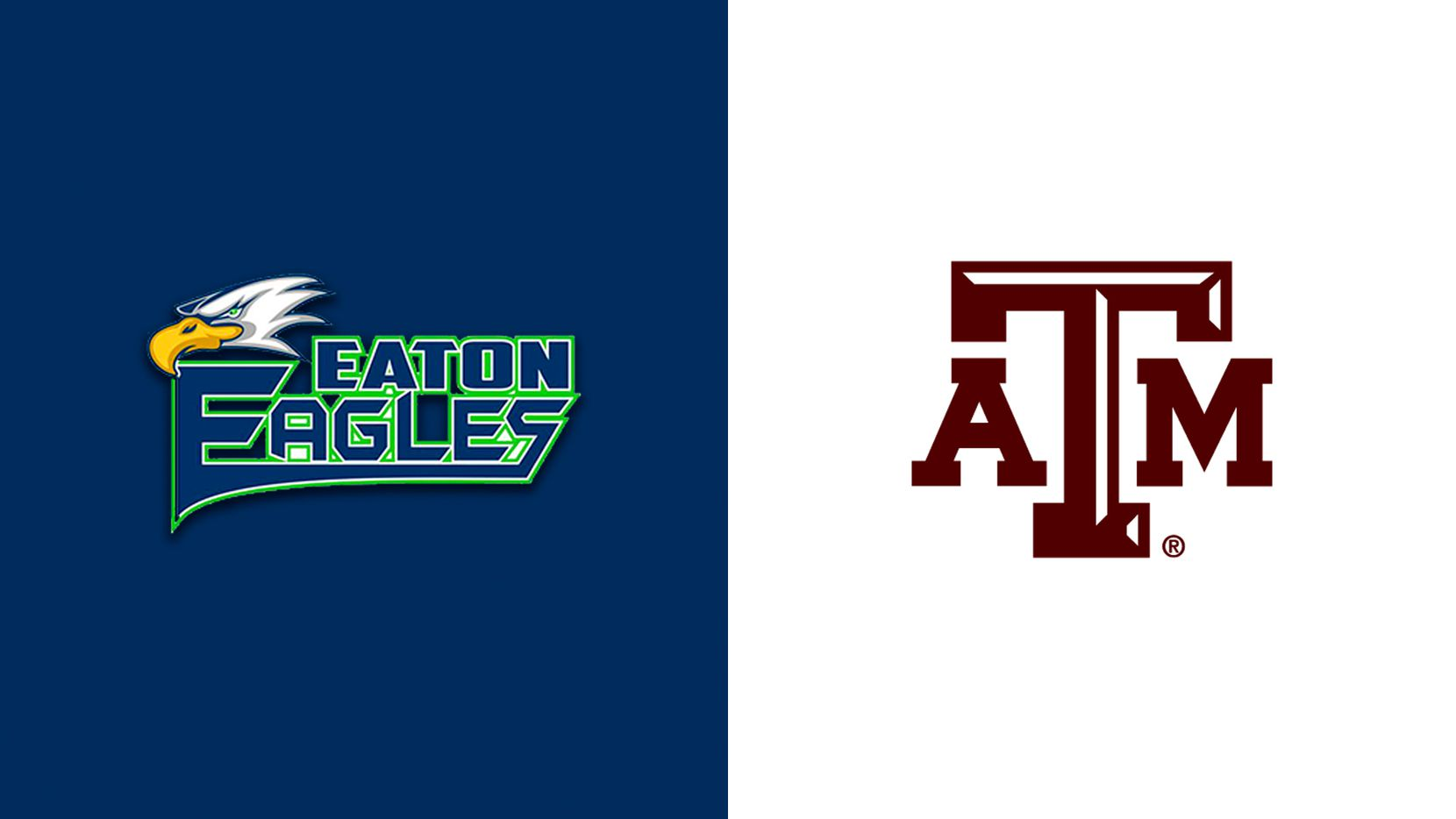 Logos for Northwest Eaton and Texas A&M.