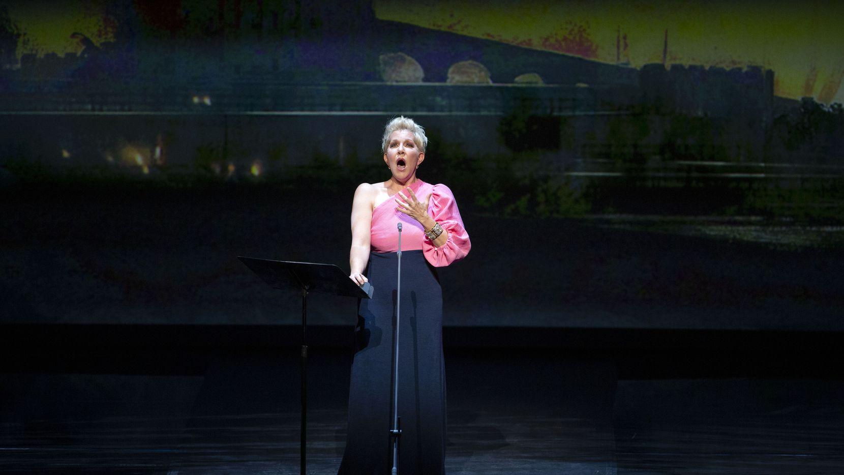 Mezzo-soprano Joyce DiDonato joins conductor Emmanuel Villaume and the Dallas Opera Orchestra at the Winspear Opera House in Dallas, Texas on May 10, 2021.