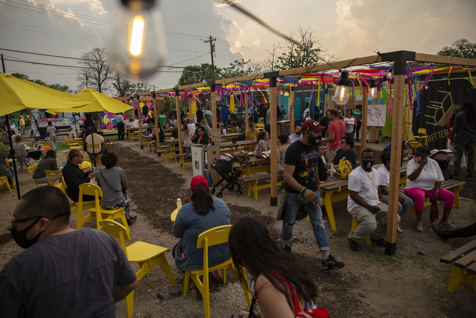 People enjoyed the variety of food, live music, community gardens and play area for the kids at the MLK Food Park.