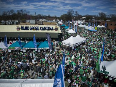 "People attending the Lower Greenville Avenue St. Patrick's Block Party in Dallas on Saturday, March 16, 2019. According to the event's Facebook page,the party has been a ""long standing tradition"" for more than 30 years."