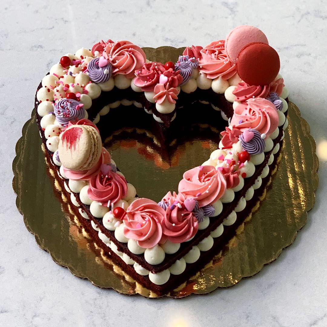 Bisous Bisous Patisserie in Dallas sold heart-shaped cakes for Valentine's Day season in 2021. While the shop saw healthy sales on the holiday weekend, it closed on Valentine's Day due to snow and record-low temperatures. Owner Andrea Meyer says Bisous Bisous will continue to sell its V-Day treats through the end of the month, for anyone who wants to celebrate late.