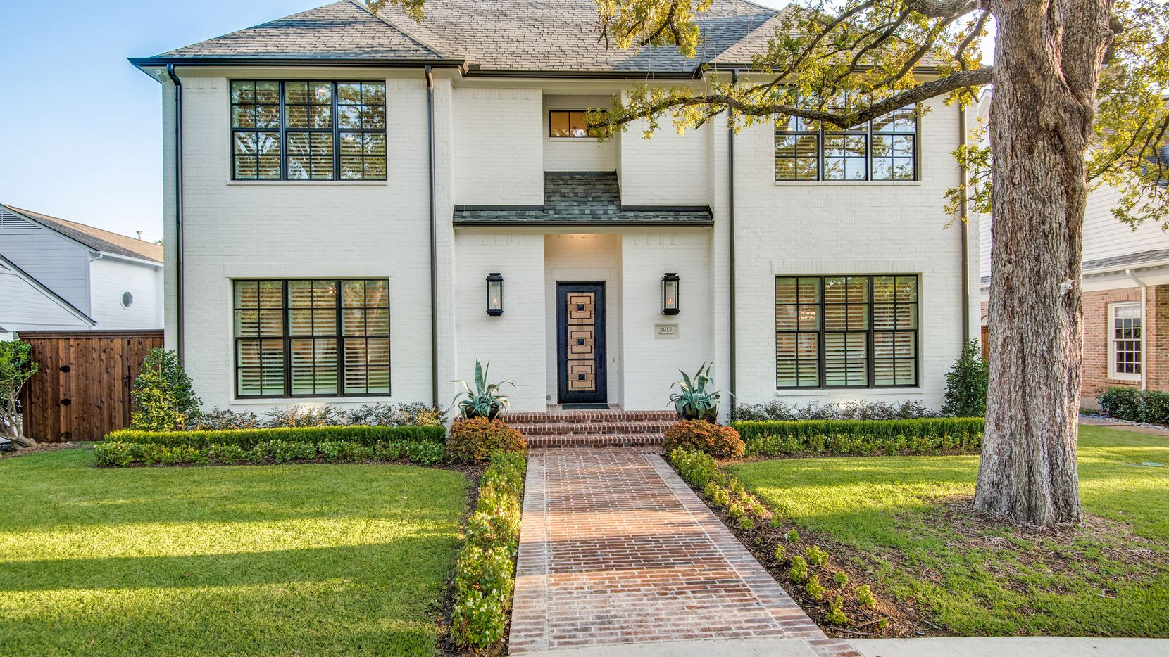 The new home at 3917 Wentwood Drive in University Park's Fairway neighborhood features six bedrooms.