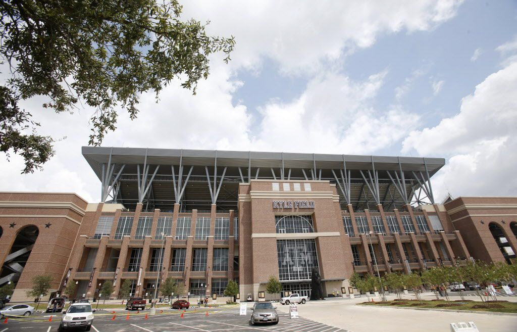 Exterior of the newly renovated west side of Kyle Field at Texas A&M University in College Station, on Thursday, September 10, 2015. (Vernon Bryant/The Dallas Morning News)