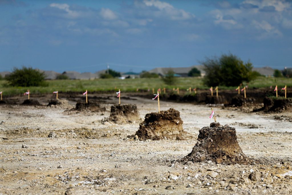 Northstar developers are in the early stages of excavating farm land for 2,200 homes in northwest Tarrant Count.