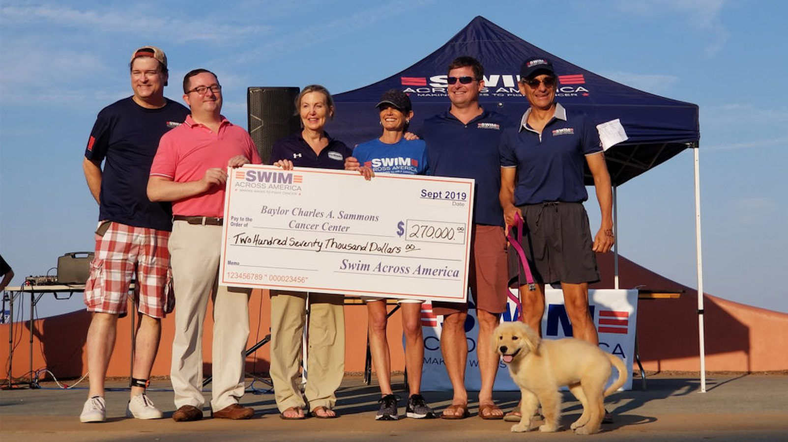 The ninth annual Swim Across America Dallas event generated more than a quarter-million dollars for cancer research and treatment.