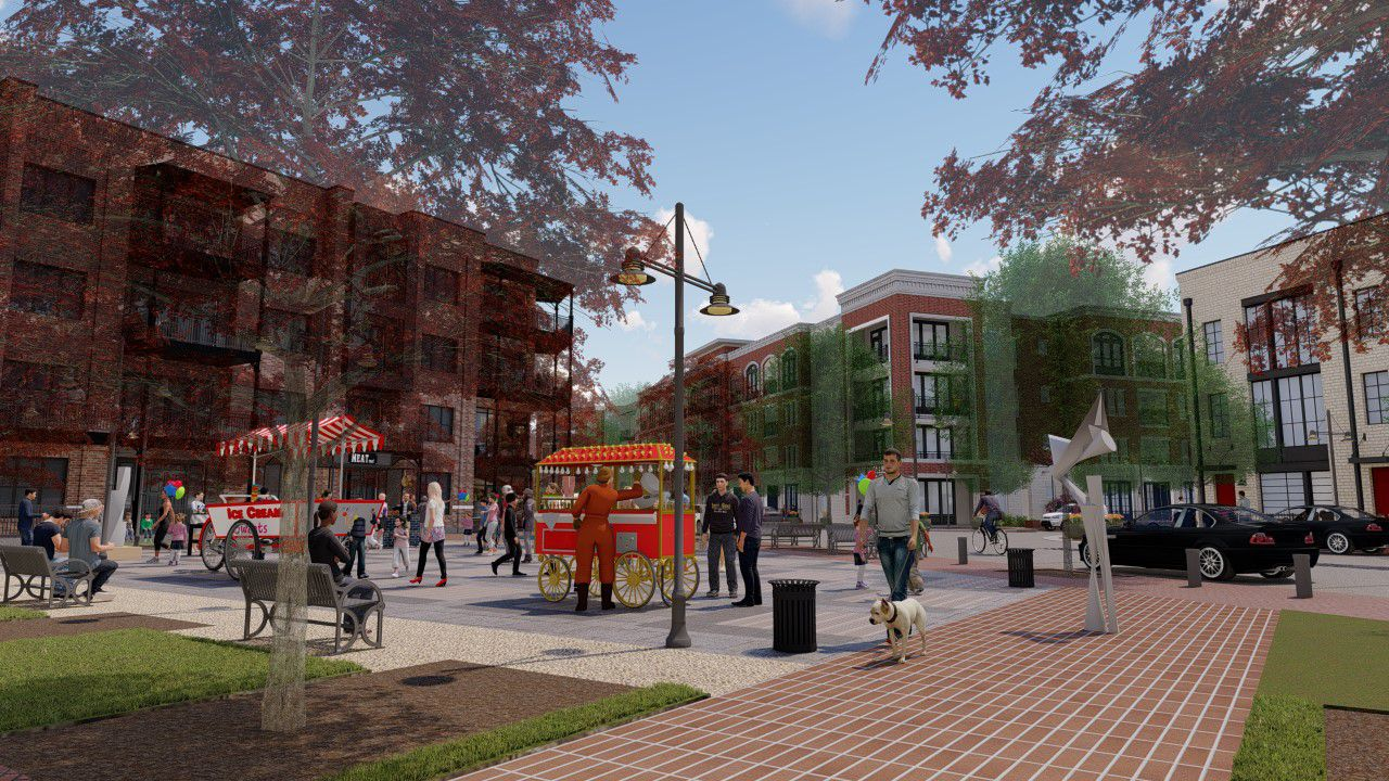 The planned apartments will include 4-story buildings and brownstone style rental units.