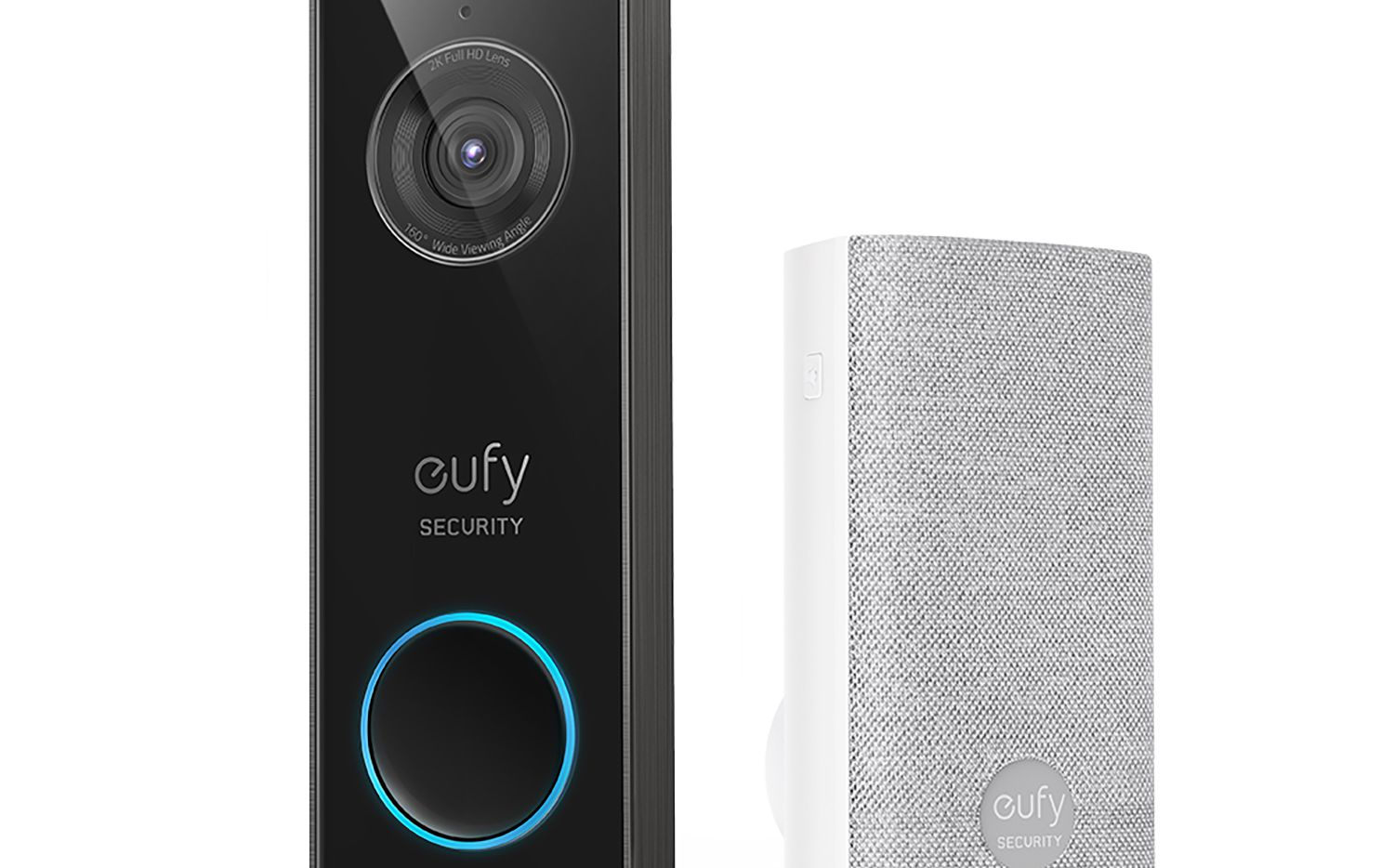 The Eufy Security Wired 2K Video Doorbell includes a wireless chime.