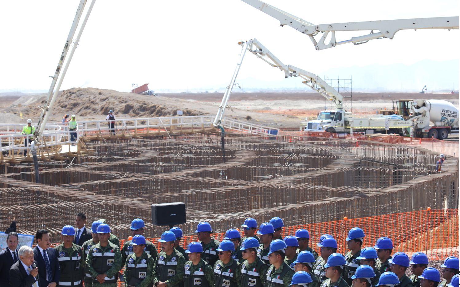 Obras en el nuevo Aeropuerto de Santa Lucía, cerca de la Ciudad de México.