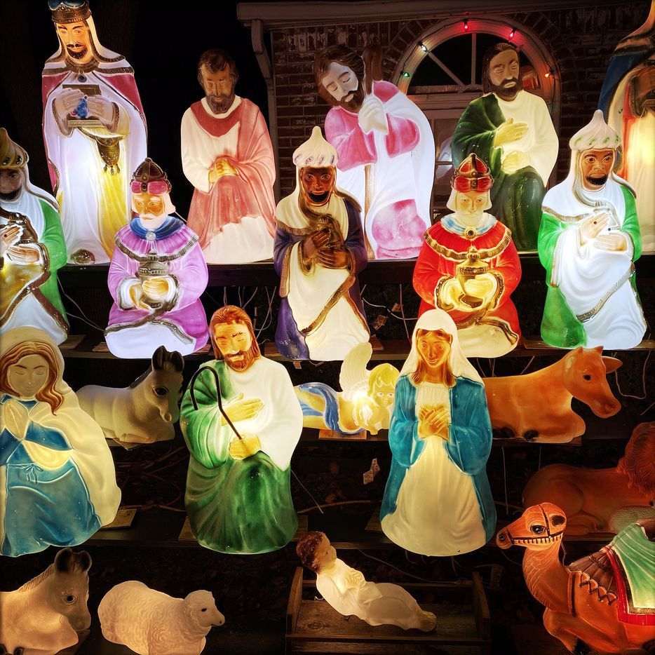 Wayne Smith's collection includes Nativity scene figures.