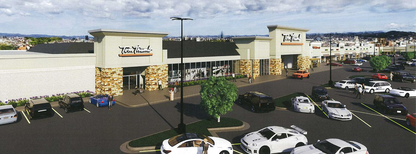 One of Weitzman's renovation projects is the Fielder Plaza shopping center in Arlington.