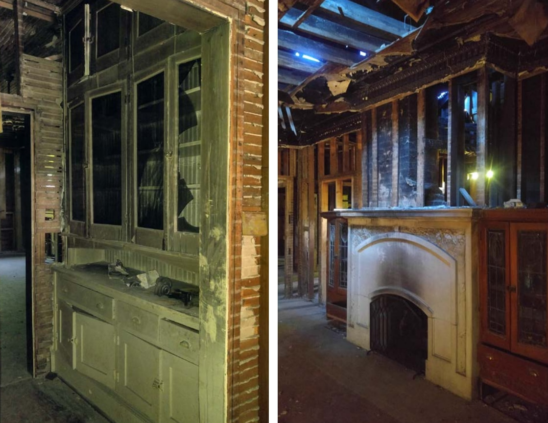 More looks at the butler's pantry and mantel inside the house, from documents presented to Landmark Monday