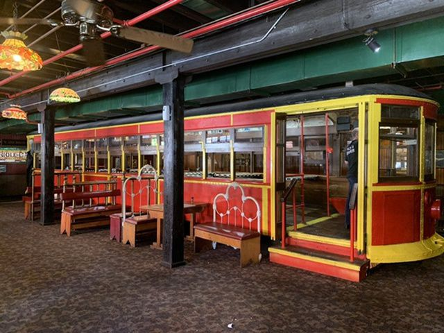 Interested in purchasing the full-sized trolley inside the shuttered Spaghetti Warehouse in Dallas? It's not small. It's up for auction online through Oct. 29, 2019.