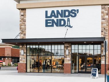 Exterior of a Lands' End store in Bridgewater, N.J.