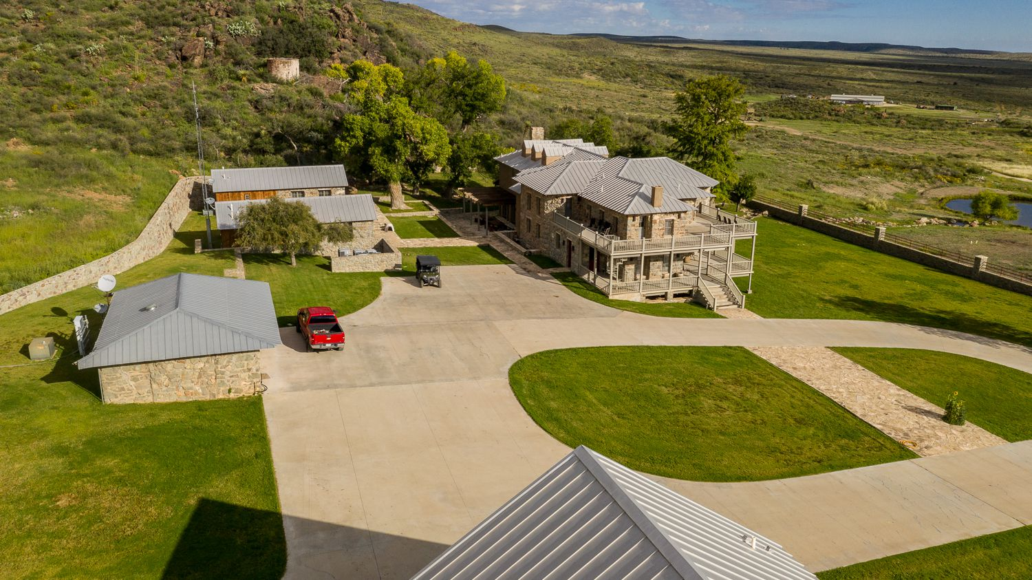 The KC7 Ranch includes a nearly 10,000 square foot lodge.