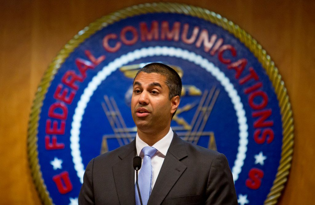 Ajit Pai, chairman of the Federal Communications Commission, at the federal agency's headquarters in Washington, June 23, 2017. The FCC announced on Nov. 21 that it planned to dismantle landmark regulations that ensure equal access to the internet, clearing the way for companies to charge more and block access to some websites. (