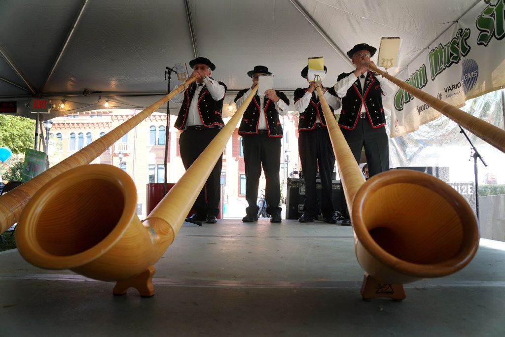 The Swiss Longhorns perform at a previous year's Southlake Oktoberfest.