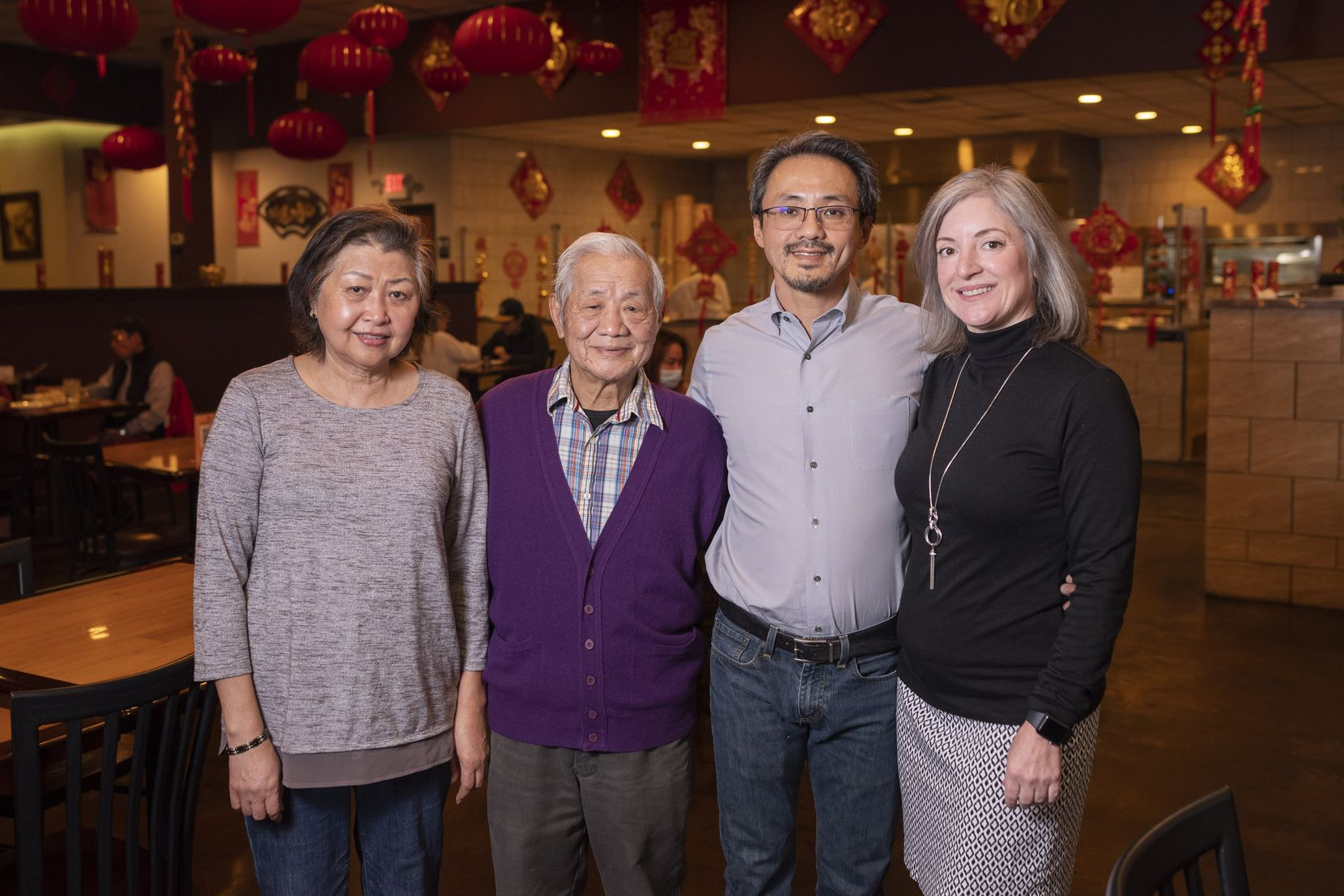 Jeng Chi founders Mei Teng, far-left, and Yuan Teng, with their son Francisco Teng and his wife Janelle Teng, co-owners