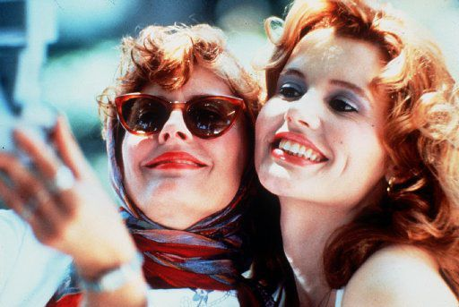 Susan Sarandon and Geena Davis star in Thelma and Louise.