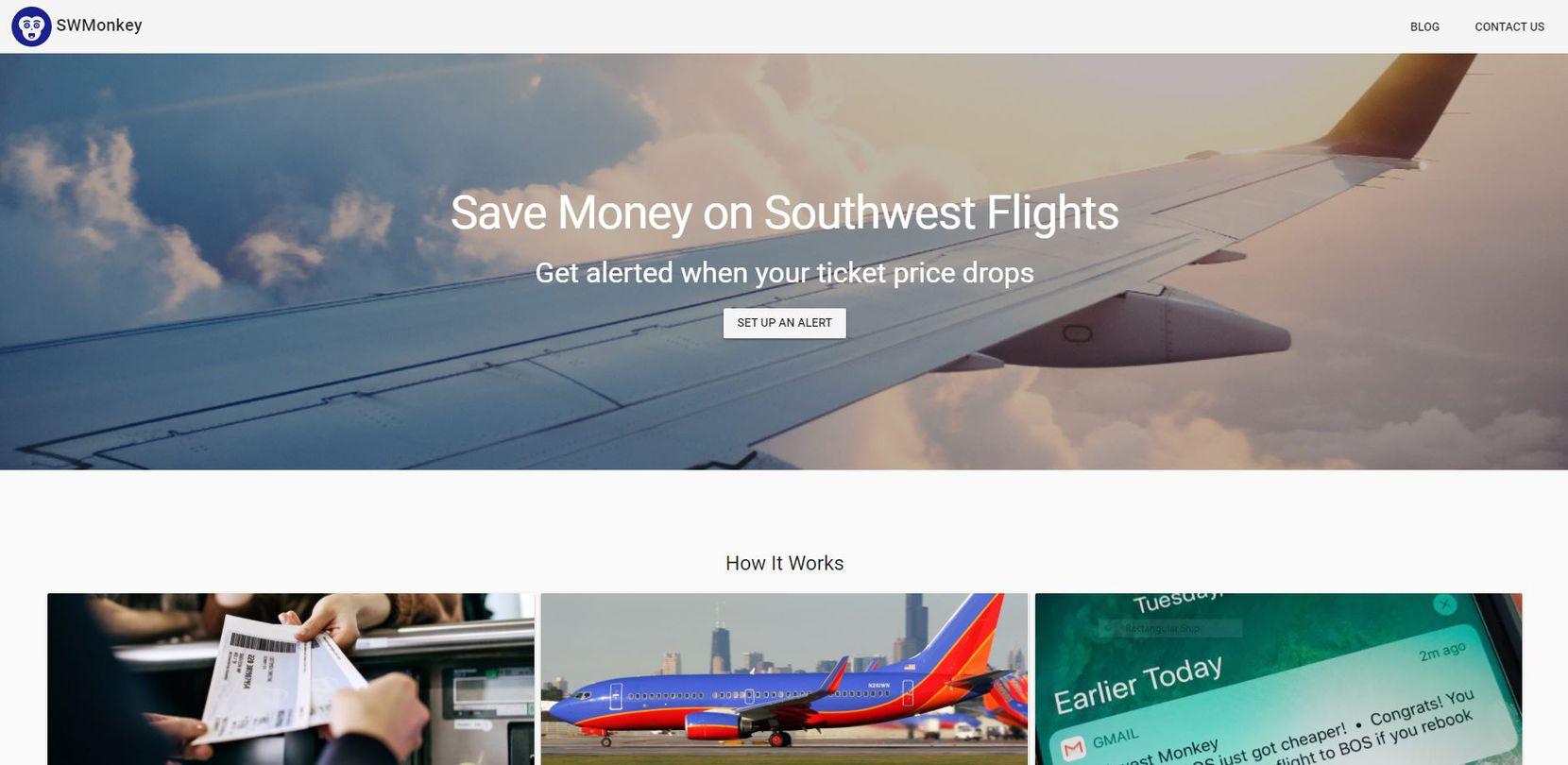 A screen capture of SWMonkey.com taken on Jan. 9, 2018.
