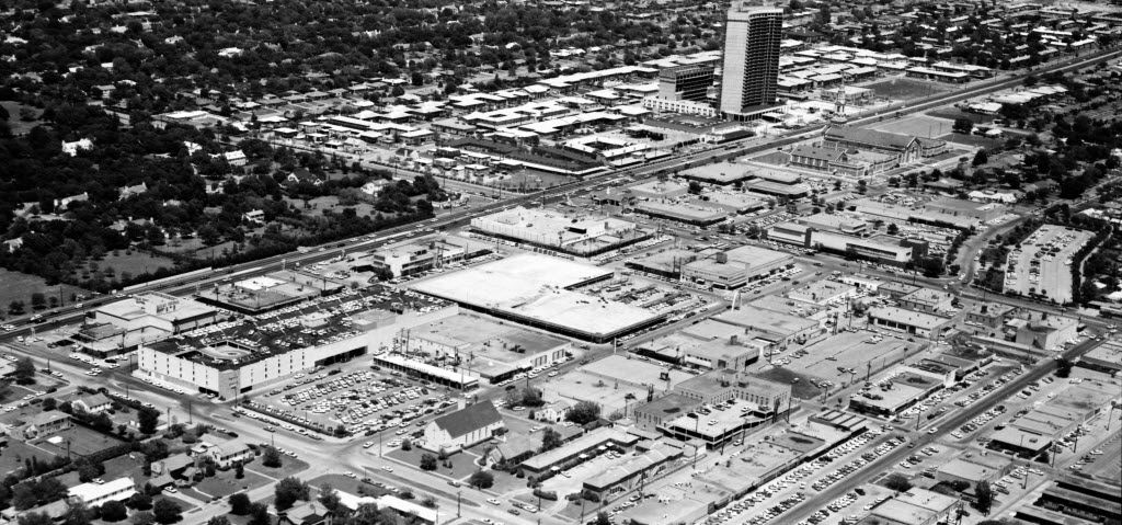 May 1, 1965 aerial photo of Preston Center at Northwest Highway and Preston Road
