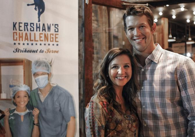 Los Angeles Dodgers pitcher and University Park resident Clayton Kershaw and his wife, Ellen, attended a charity event recently for Kershaw's Challenge at The Rustic in Dallas. The group helps at-risk kids in West Dallas.