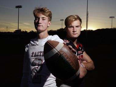 Chase (left) and Carson Cross at their home in Southlake, Texas on Sunday, November 1, 2020.