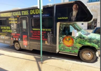 "Jamie Balagia called himself the ""DWI Dude"" for his expertise and once arrived for a federal hearing in Plano with a Winnebago decorated with his image and the advertising slogan, ""Busted? Call the Dude!"""