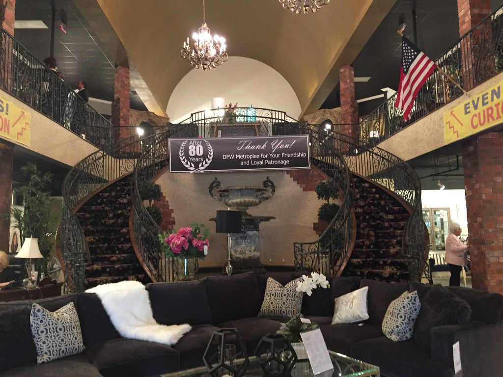 Interior entrance of Freed's Furniture located at 4355 Lyndon B Johnson Fwy, Dallas, TX 75244. Photo taken Oct. 18, 2018.