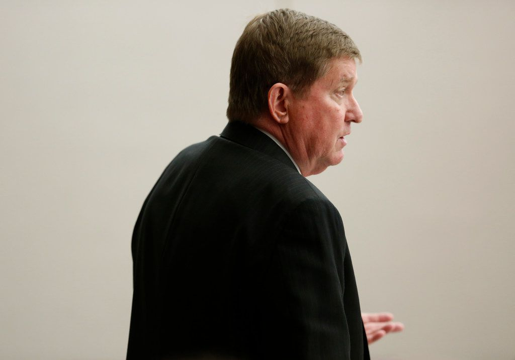 Lead prosecutor Michael Snipes speaks to the judge Friday during the seventh day of former Balch Springs police officer Roy Oliver's murder trial.