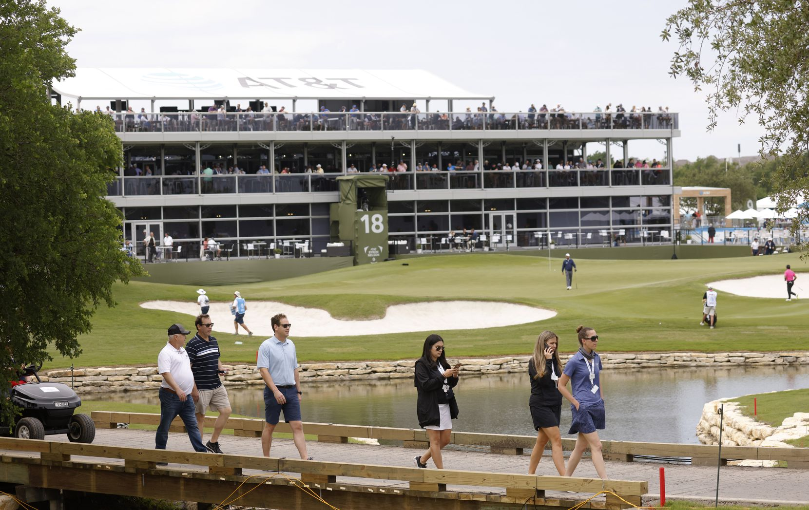 Fans made their way around the course near the 18th hole during the second round of the AT&T Byron Nelson at TPC Craig Ranch on May 14 in McKinney.