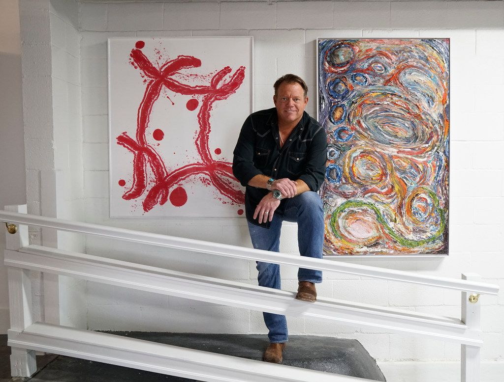 Pat Green at his studio Galleywinter Gallery in Fort Worth, Texas on Tuesday July 17, 2018. Did you know this Texas country superstar owns an art gallery?