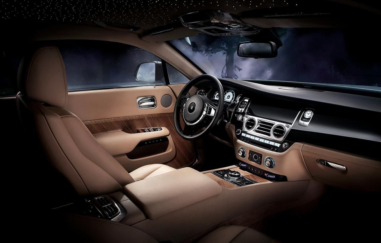 "The 2015 Rolls-Royce Wraith  includes a $5,900 option that allows you to drive under ""stars"" that glow from holes in the headliner fitted with tiny LED lights."