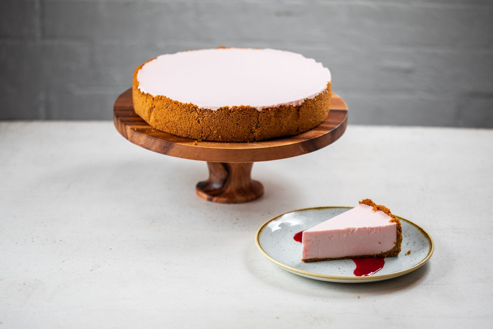 Sixty Vines offers a Rose  Cheesecake made with Vine Huggers Rose  and a Graham Cracker Crust.