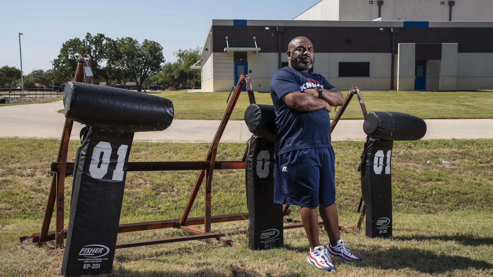 A+ Academy football coach Tarance Lewis won't have any athletes working out until at least Sept. 8 because the school is continuing to follow Dallas County orders. A+ Academy isn't scheduled to play its first football game until Oct. 8. (Ben Torres/Special Contributor)