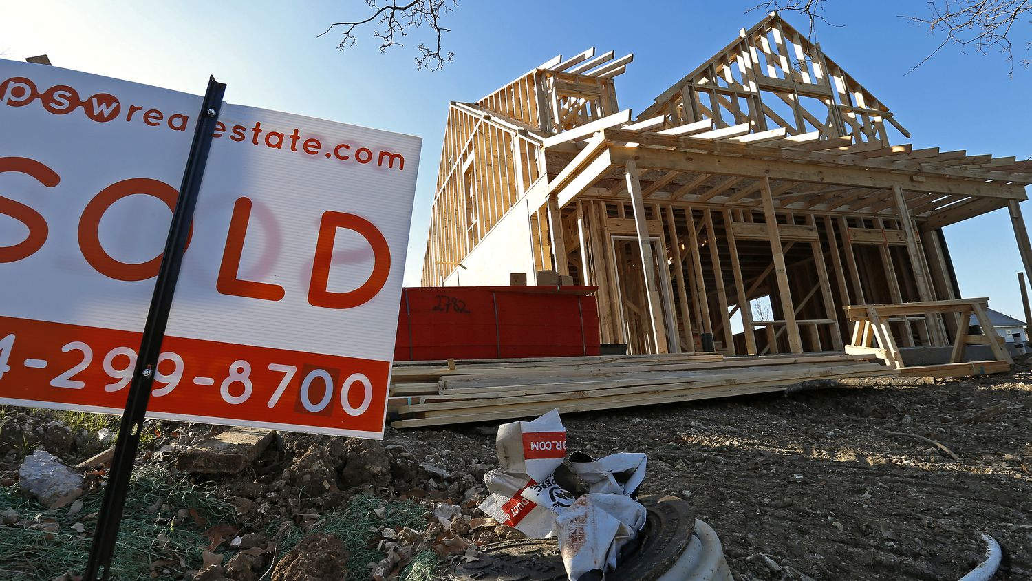 Builders can wind up holding the bag on houses they've sold if buyers back out of purchases.