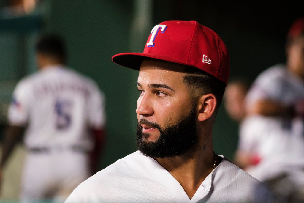 Texas Rangers right fielder Nomar Mazara heads to the clubhouse after a 8-5 loss to the Seattle Mariners at Globe Life Park on Tuesday, July 30, 2019, in Arlington. (Smiley N. Pool/The Dallas Morning News)